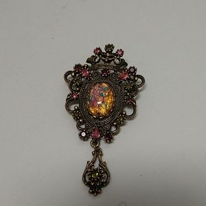Sarah Coventry Opal brooch pendant